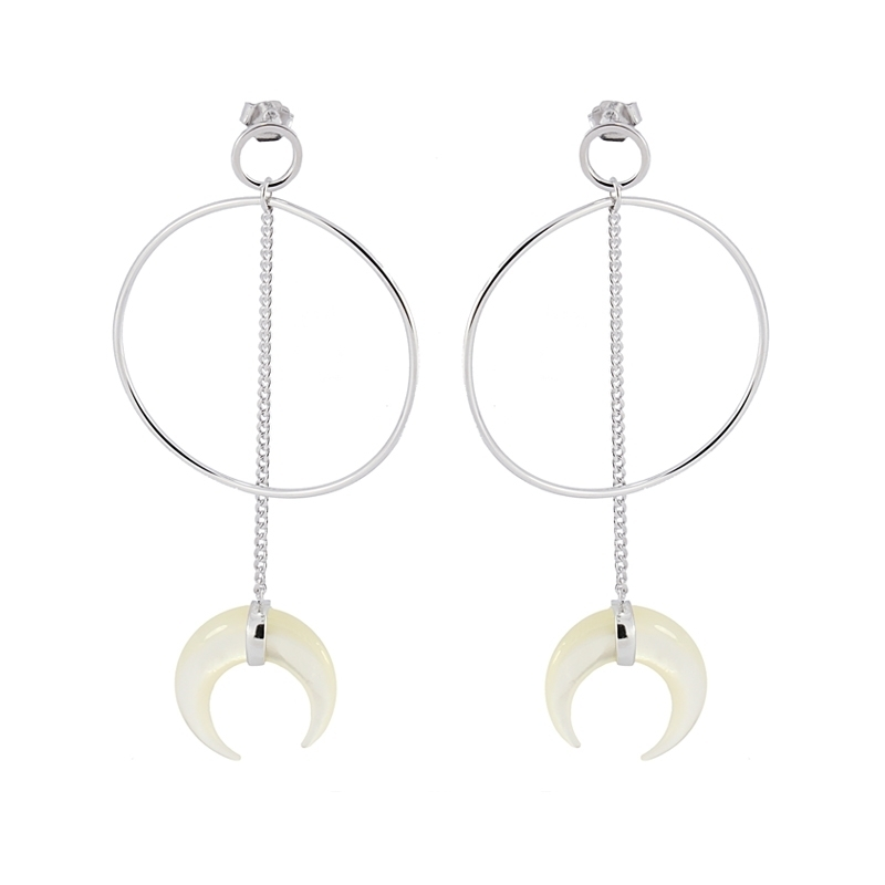 - Moon earrings - PE338 PL
