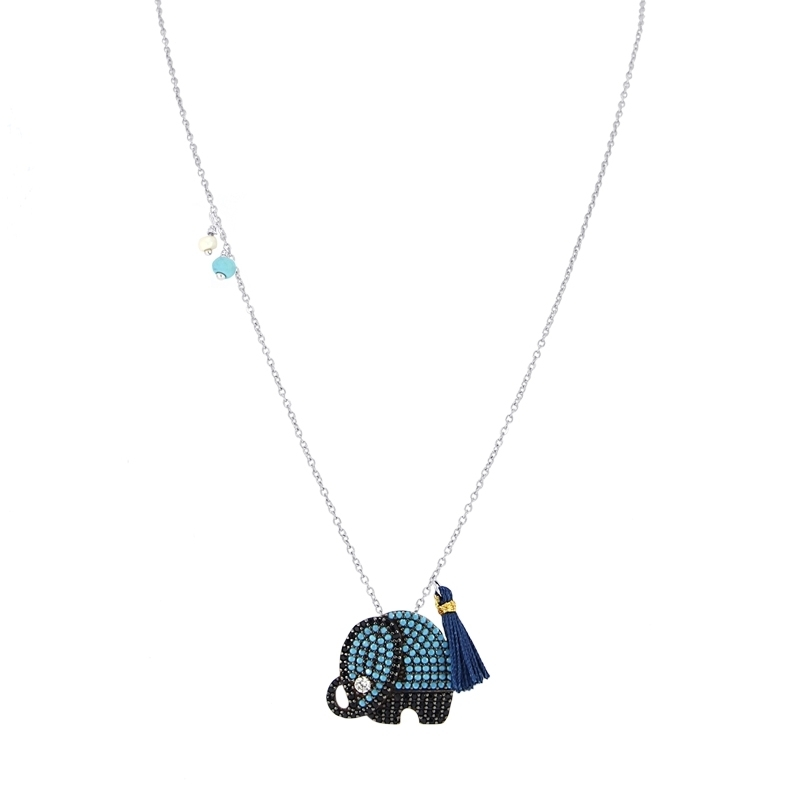 - Elephant necklace - CO145 AT