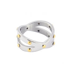 - Rivets crossed ring - AAN346 PL