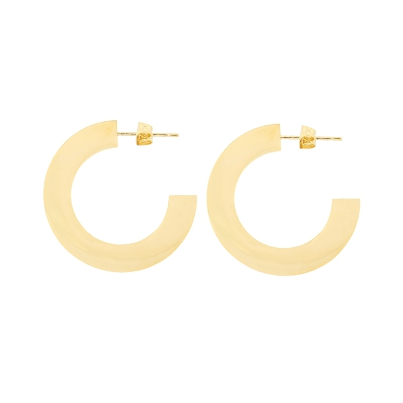 - Flat hoop earring 34 mm - APE885 D