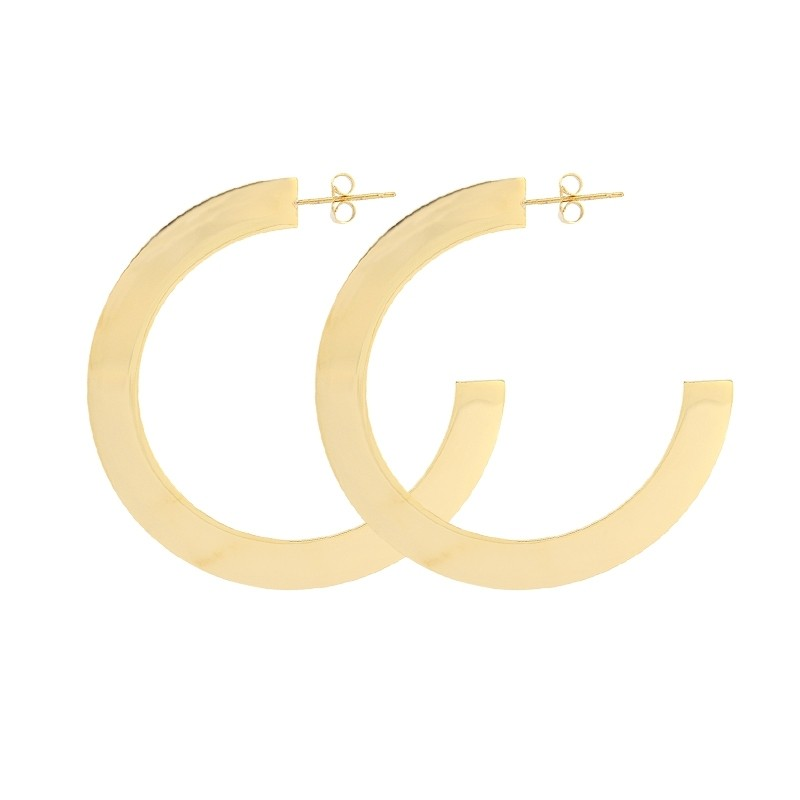 - Flat hoop earring 58 mm - APE886 D