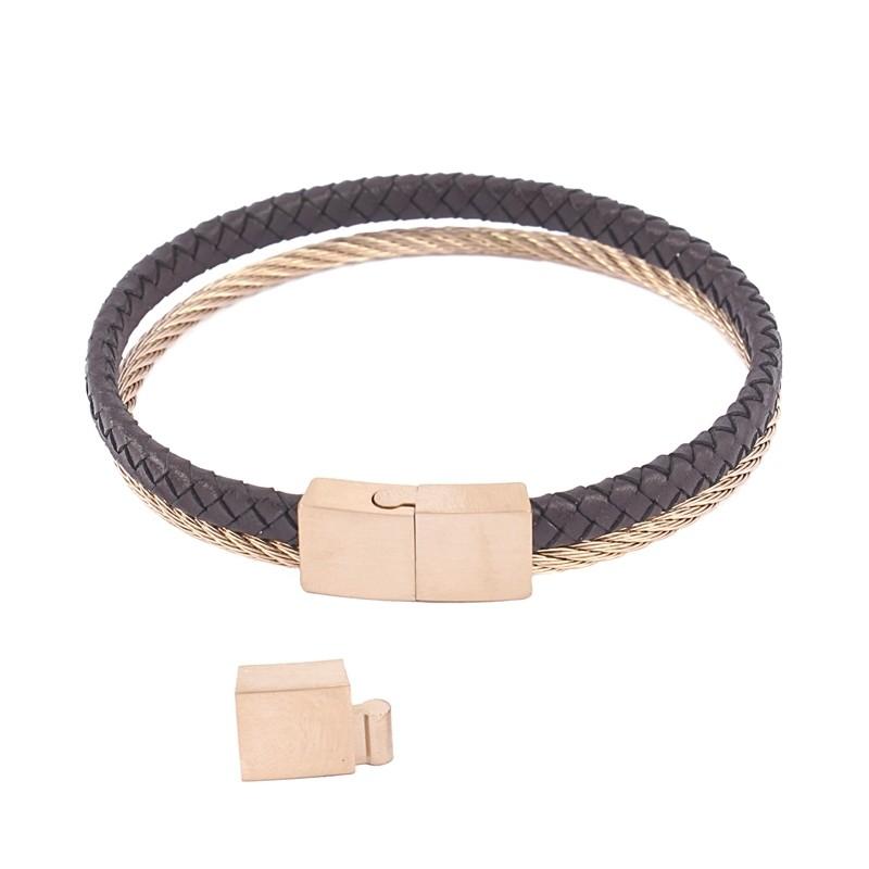 - Leather bracelet for man - H182 MR