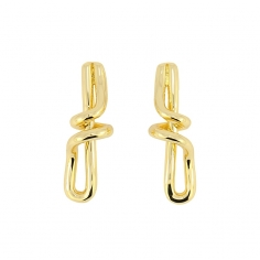 - Earrings with twist - APE873 D