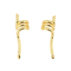 - Earrings with twist - APE872 D