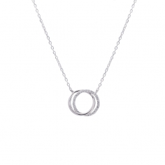 Double circle necklace CO174