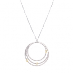 Triple circle necklace CO172