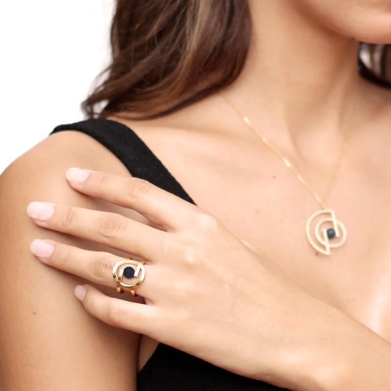 Natural stone ring  AAN382