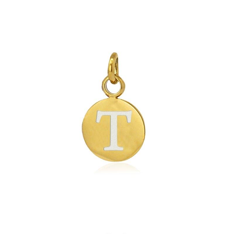 Medalla letra T