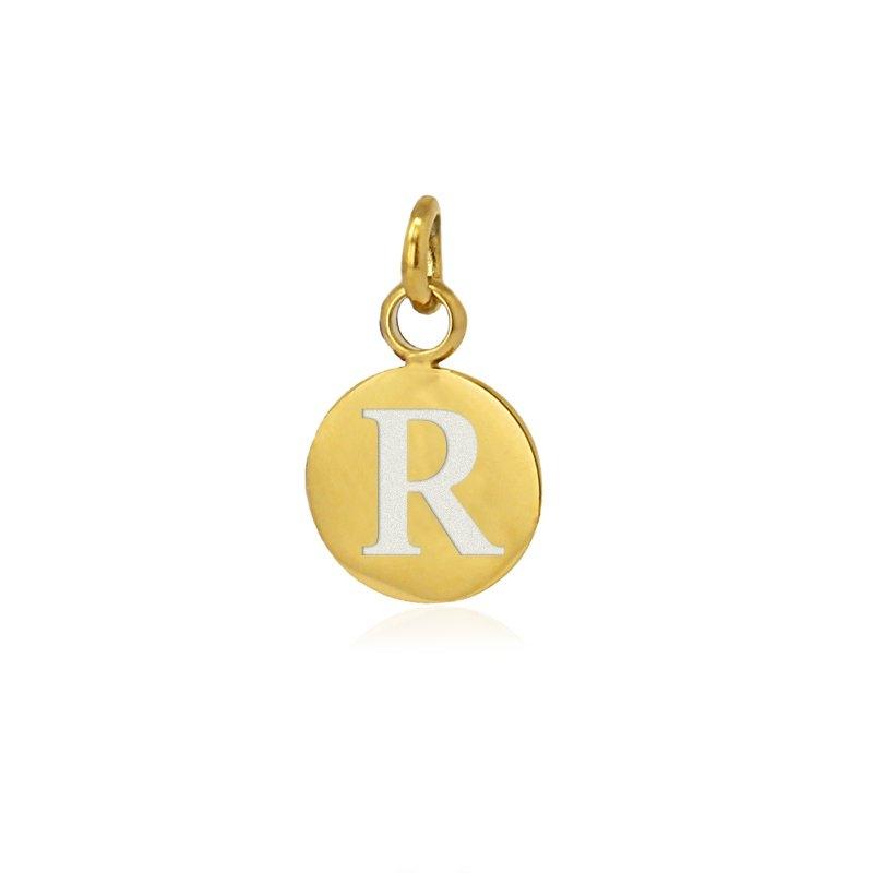 Medalla letra R