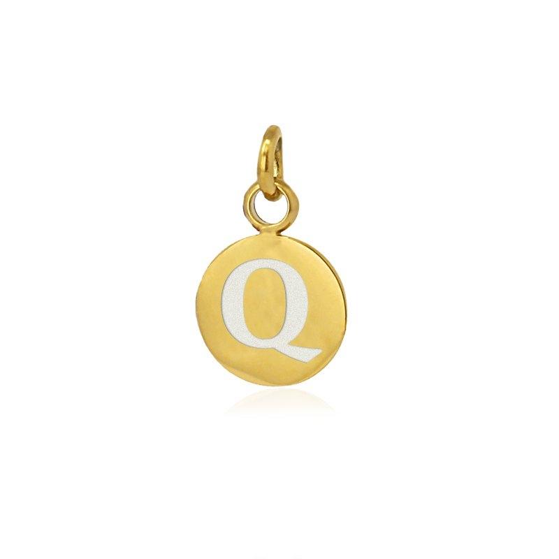 Medalla letra Q