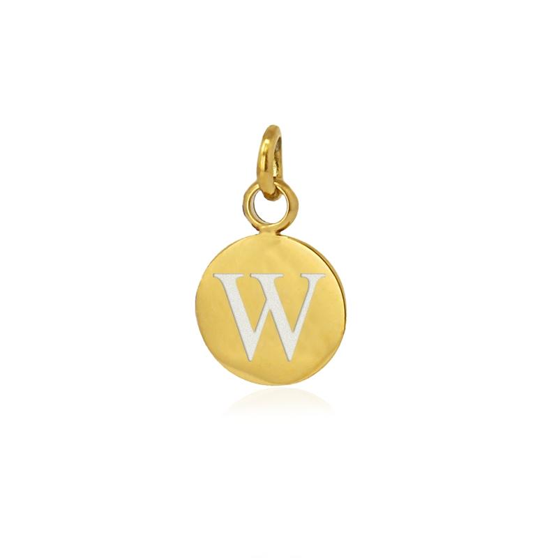 Medalla letra W