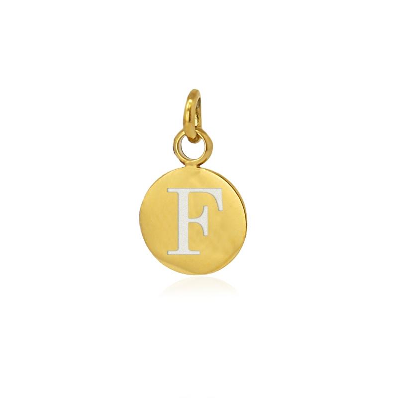 Medalla letra F